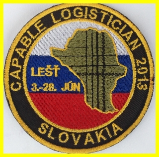 ZNAK VÝŠIVKA CAPABLE LOGISTICIAN 2013
